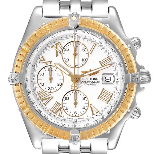 Photo of Breitling Chronomat Crosswind Steel Yellow Gold Mens Watch D13055