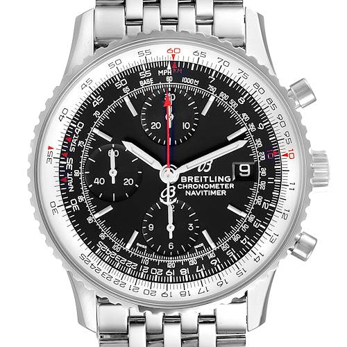 Photo of Breitling Navitimer Heritage Black Dial Steel Mens Watch A13324 Box Papers