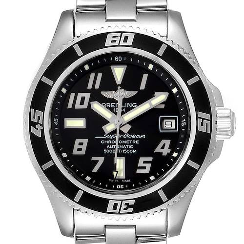 Photo of Breitling Superocean 42 Abyss Black Silver Steel Mens Watch A17364