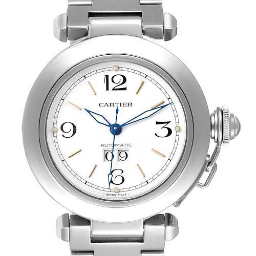 Photo of Cartier Pasha C Midsize White Dial Steel Unisex Watch W31044M7