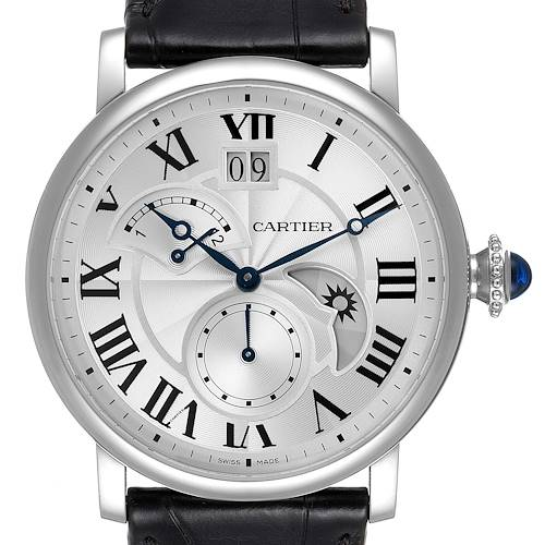 Photo of Cartier Rotonde Retrograde GMT Time Zone Steel Mens Watch W1556368 Unworn