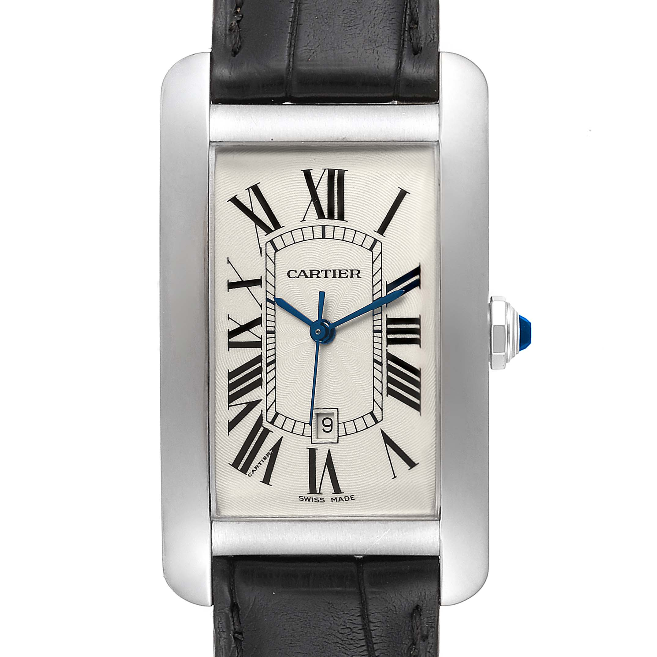 Cartier Tank Americaine 18K White Gold Large Mens Watch W2603256