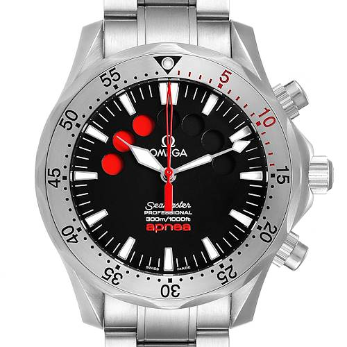 Photo of Omega Seamaster Apnea Jacques Mayol Black Dial Mens Watch 2595.50.00