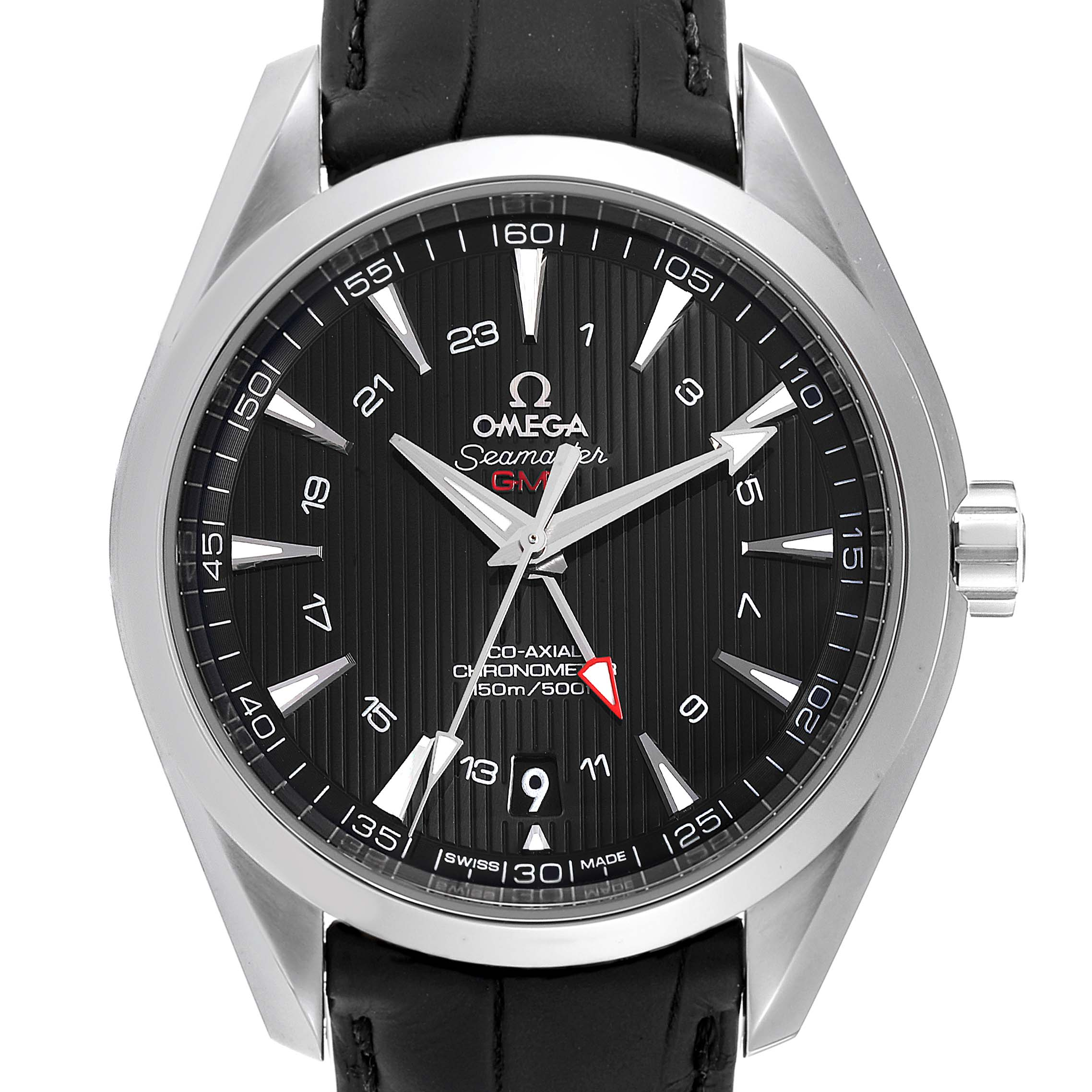Omega Seamaster Aqua Terra GMT Co-Axial Watch 231.13.43.22.01.001 Box Card