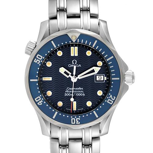 Photo of Omega Seamaster Bond 36 Midsize Blue Dial Steel Mens Watch 2561.80.00 Card