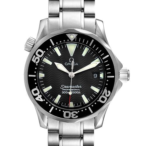 Photo of Omega Seamaster James Bond 36 Midsize Black Dial Watch 2262.50.00 Box Papers