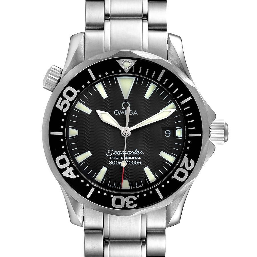 Omega Seamaster James Bond 36 Midsize Black Dial Watch 2262.50.00 Box Papers SwissWatchExpo