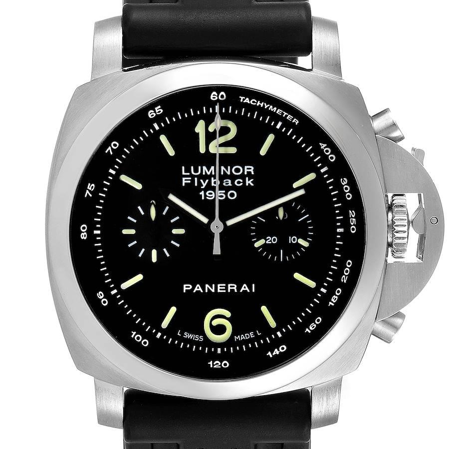 Panerai Luminor 1950 Flyback Chronograph Steel Mens Watch PAM00212 SwissWatchExpo