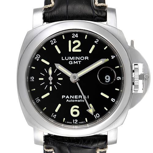 Photo of Panerai Luminor GMT 40mm Steel Mens Watch PAM00244 Box Card