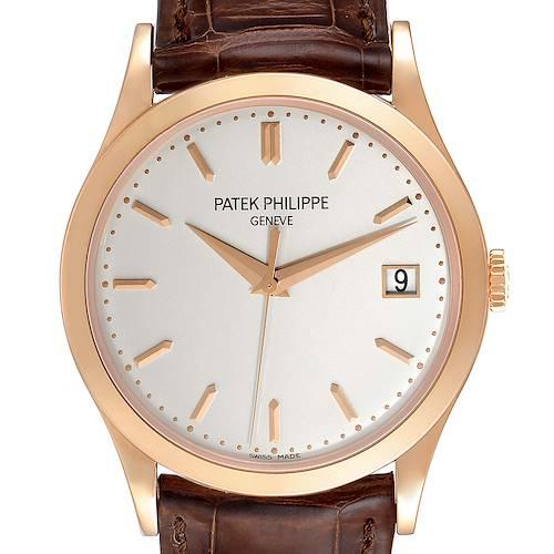 Photo of Patek Philippe Calatrava 18K Rose Gold Mens Watch 5296R Box Papers