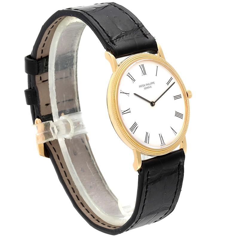 Patek Philippe Calatrava 18k Yellow Gold Mens Watch 3520 SwissWatchExpo