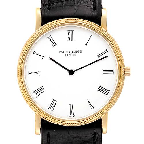 Photo of Patek Philippe Calatrava 18k Yellow Gold Mens Watch 3520