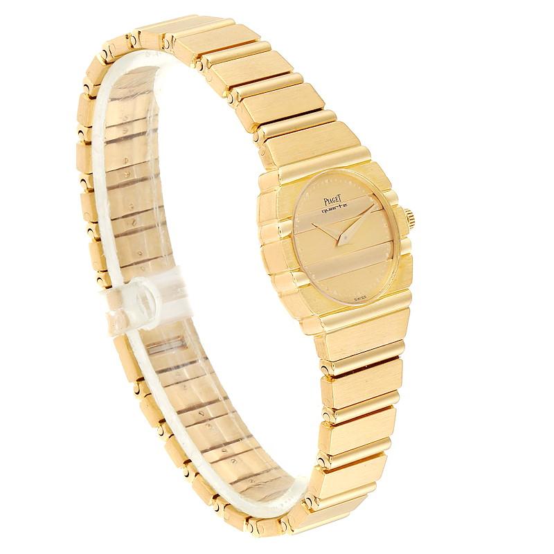 Piaget Polo 18K Yellow Gold Champagne Dial Quartz Ladies Watch C701 SwissWatchExpo