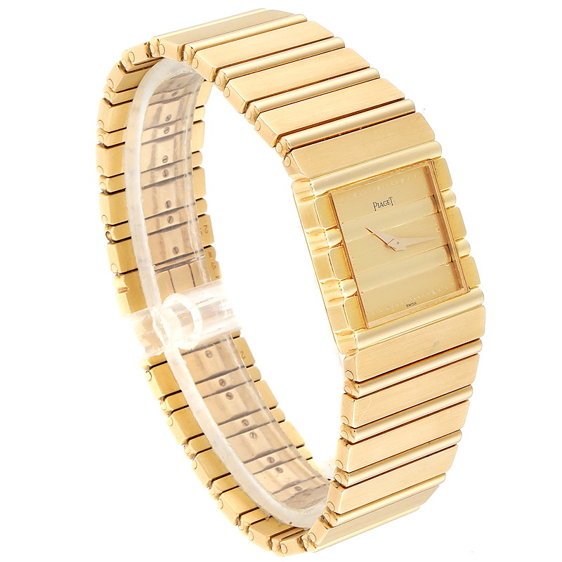 Piaget Polo 18K Yellow Gold Quartz Mens Watch 7131 SwissWatchExpo