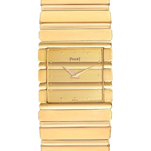 Piaget Polo 18K Yellow Gold Quartz Mens Watch 7131