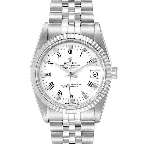 Photo of Rolex Datejust Midsize 31 Steel White Gold Ladies Watch 68274