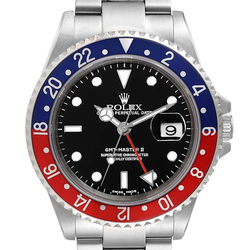 Photo of Rolex GMT Master II Pepsi Red and Blue Bezel Steel Mens Watch 16710
