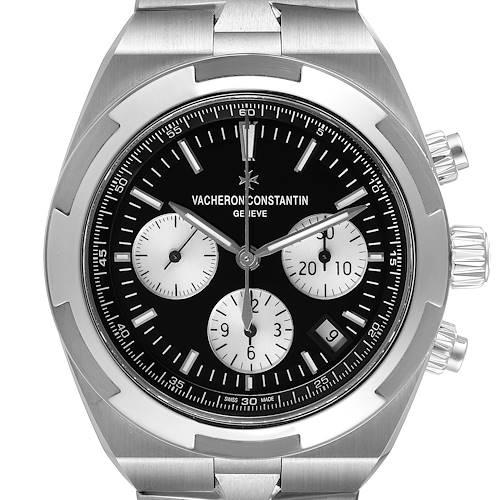Photo of Vacheron Constantin Overseas Black Dial Chronograph Watch 5500V Unworn