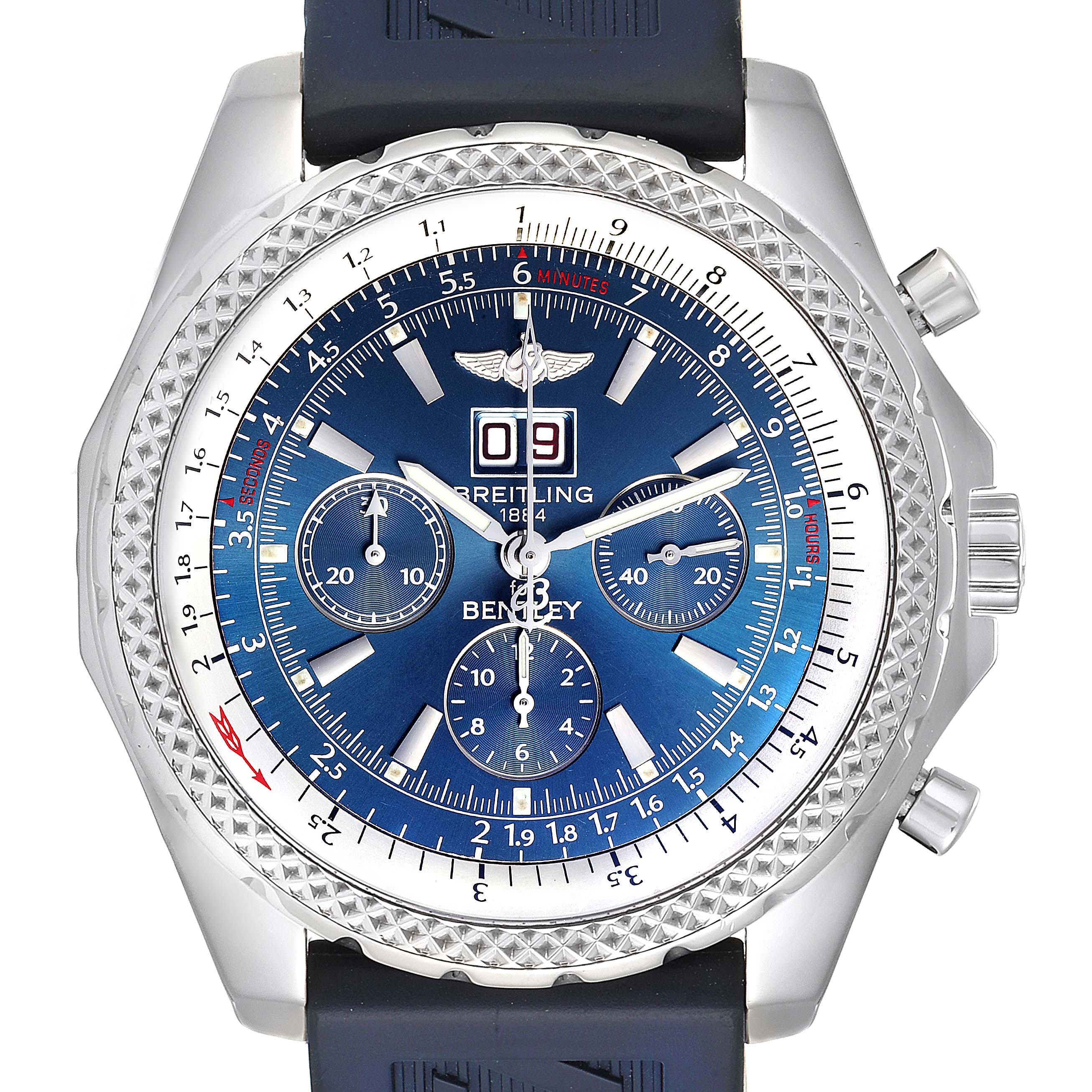Photo of Breitling Bentley Motors Blue Dial Chronograph Steel Mens Watch A44362