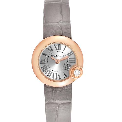 Photo of Cartier Ballon Blanc Rose Gold Diamond Ladies Watch WGBL0002 Box Card
