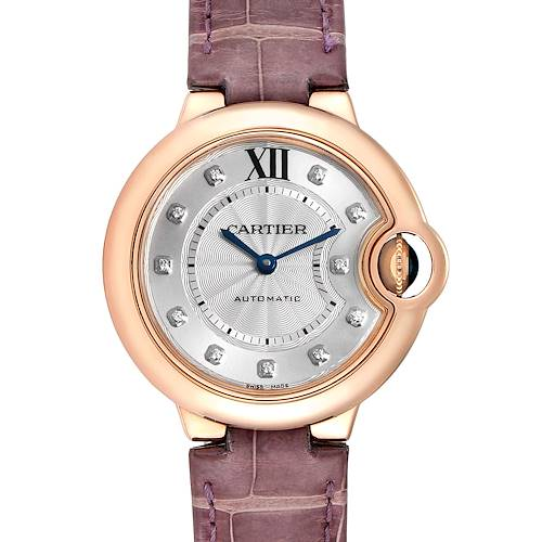 Photo of Cartier Ballon Bleu 33 Rose Gold Diamond Ladies Watch WE902063 Box Papers