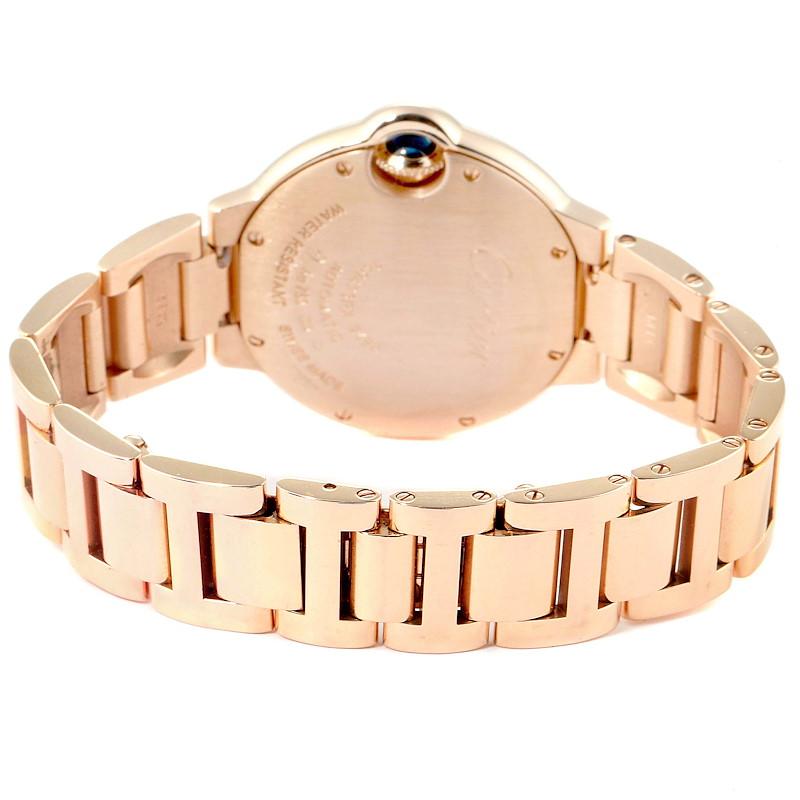 Cartier Ballon Bleu Rose Gold Silver Dial Ladies Watch W6920096 SwissWatchExpo