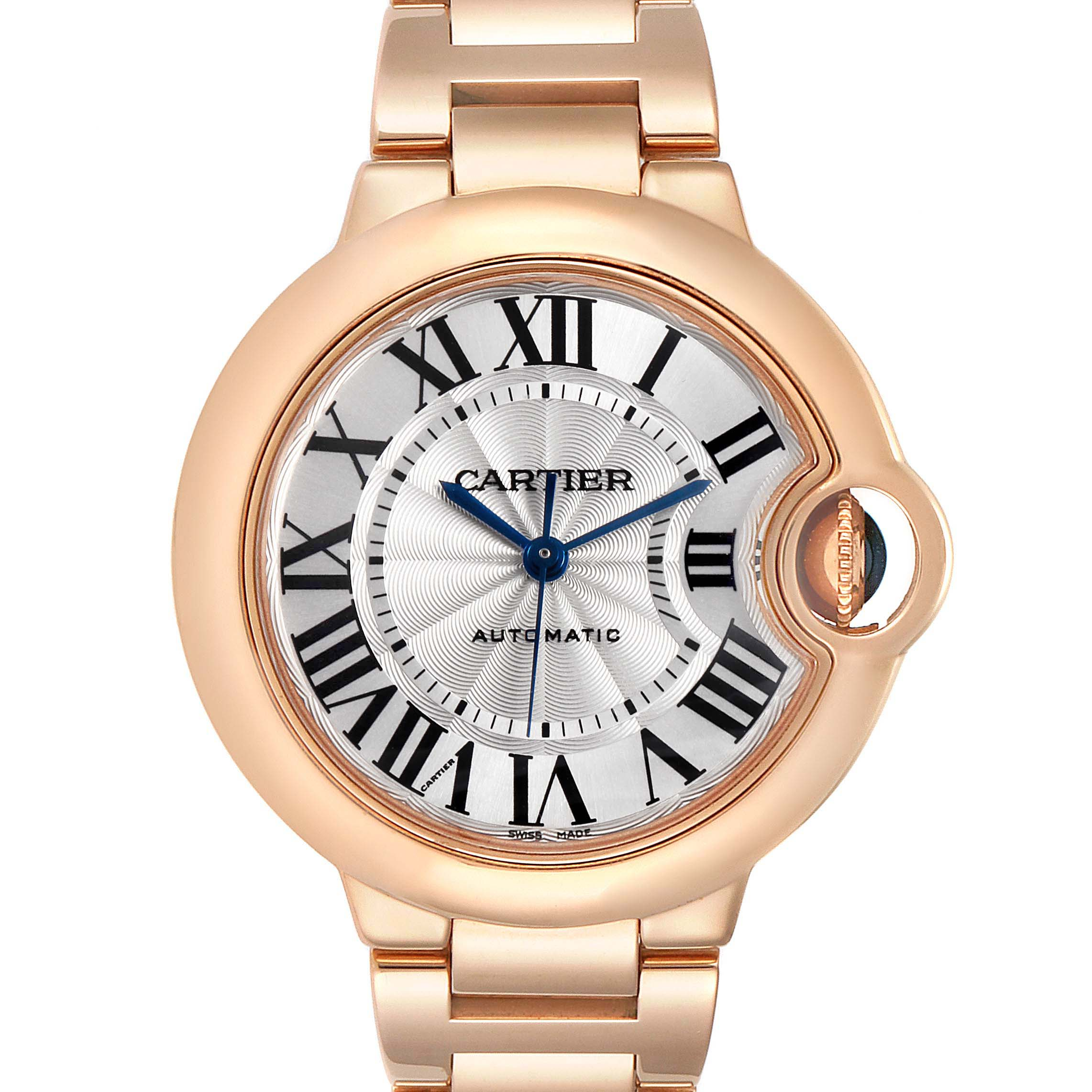 Cartier Ballon Bleu Rose Gold Silver Dial Ladies Watch W6920096