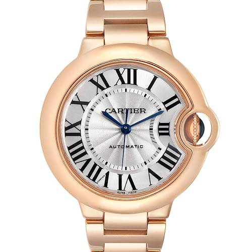 Photo of Cartier Ballon Bleu Rose Gold Silver Dial Ladies Watch W6920096