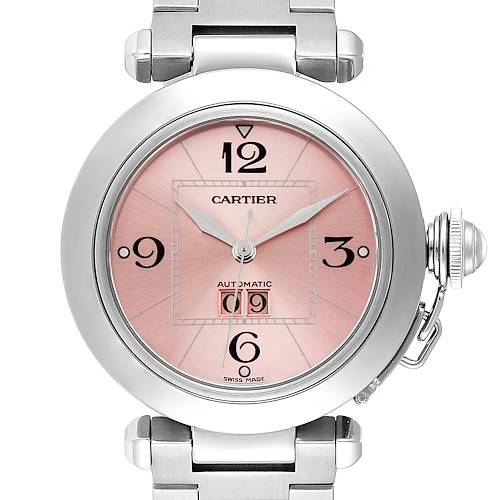 Photo of Cartier Pasha Big Date 35mm Pink Dial Steel Ladies Watch W31058M7