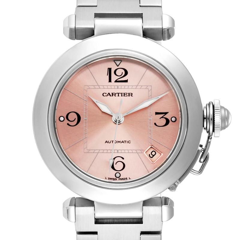 Cartier Pasha C Midsize Pink Dial Automatic Ladies Watch W31075M7 Box SwissWatchExpo
