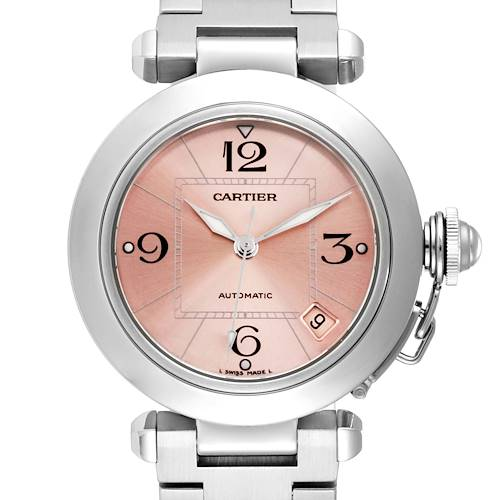 Photo of Cartier Pasha C Midsize Pink Dial Automatic Ladies Watch W31075M7 Box