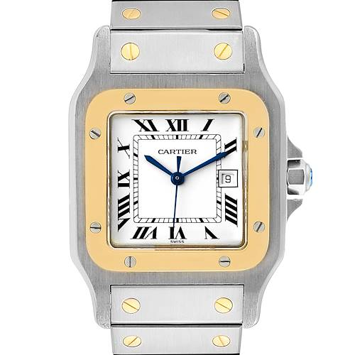 Photo of Cartier Santos Galbee 29mm Steel Yellow Gold Mens Watch 2380