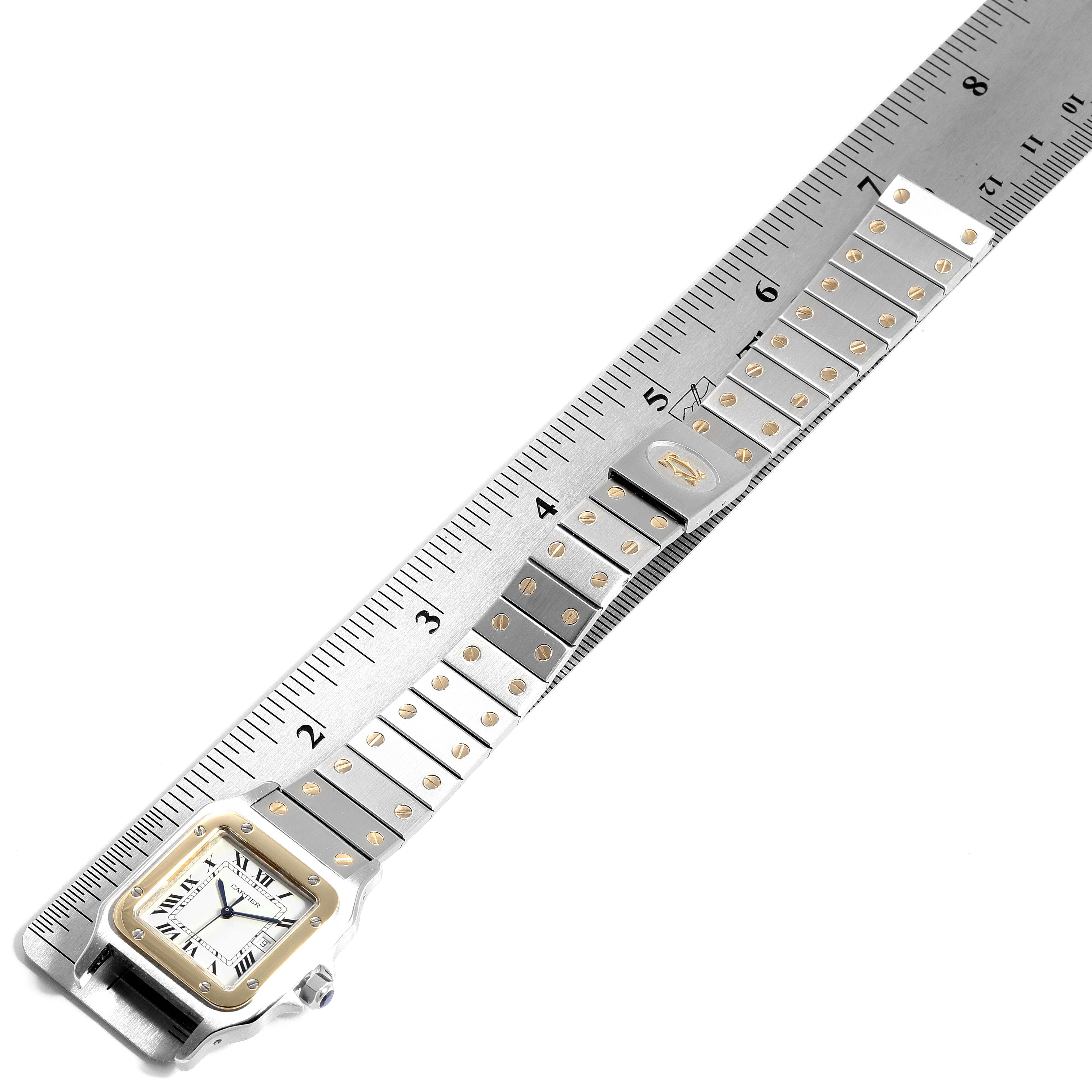 Cartier Santos Galbee 29mm Steel Yellow Gold Mens Watch 2380 SwissWatchExpo