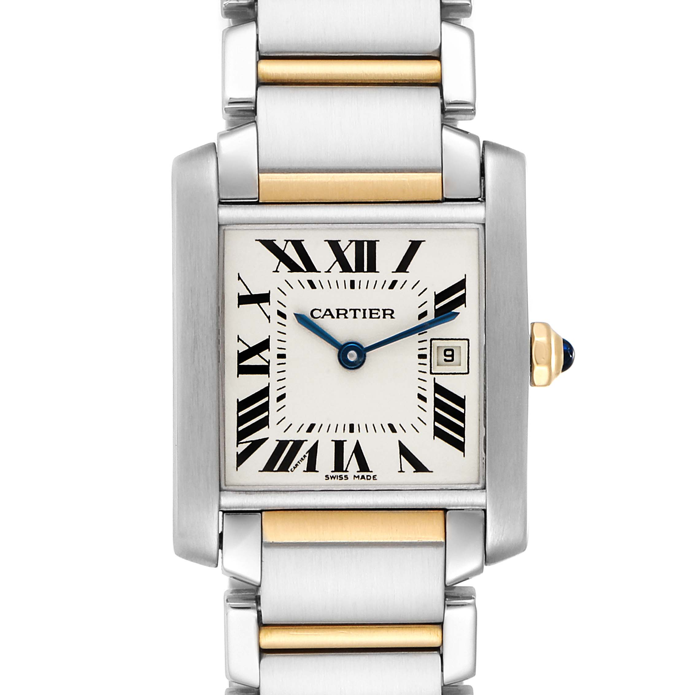 Cartier Tank Francaise Midsize Two Tone Ladies Watch W51012Q4