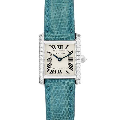 Photo of Cartier Tank Francaise White Gold Diamond Ladies Watch WE100231 Box Papers