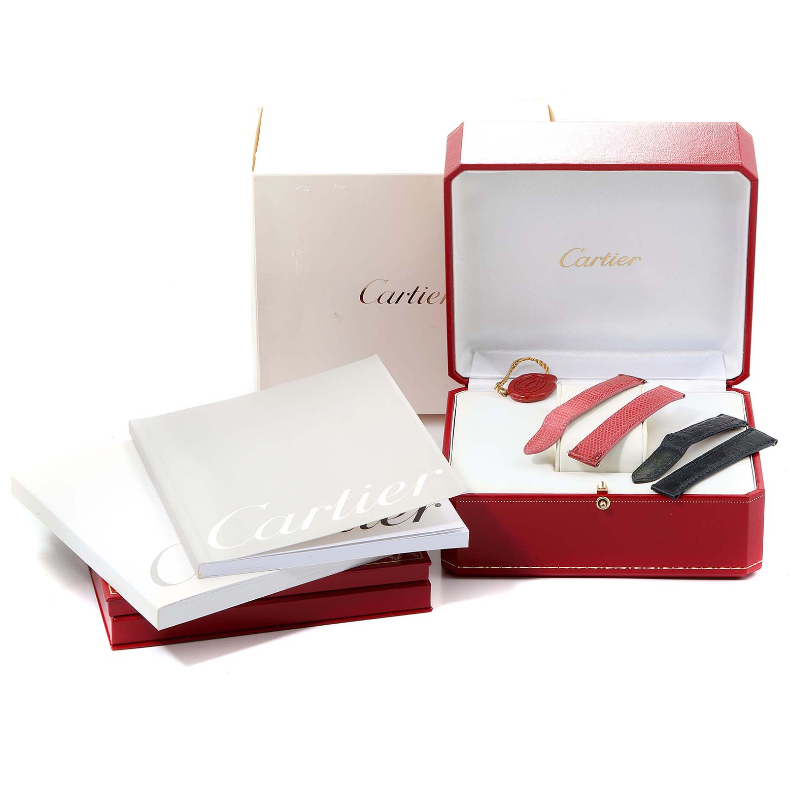 Cartier Tank Francaise White Gold Diamond Ladies Watch WE100231 Box Papers SwissWatchExpo