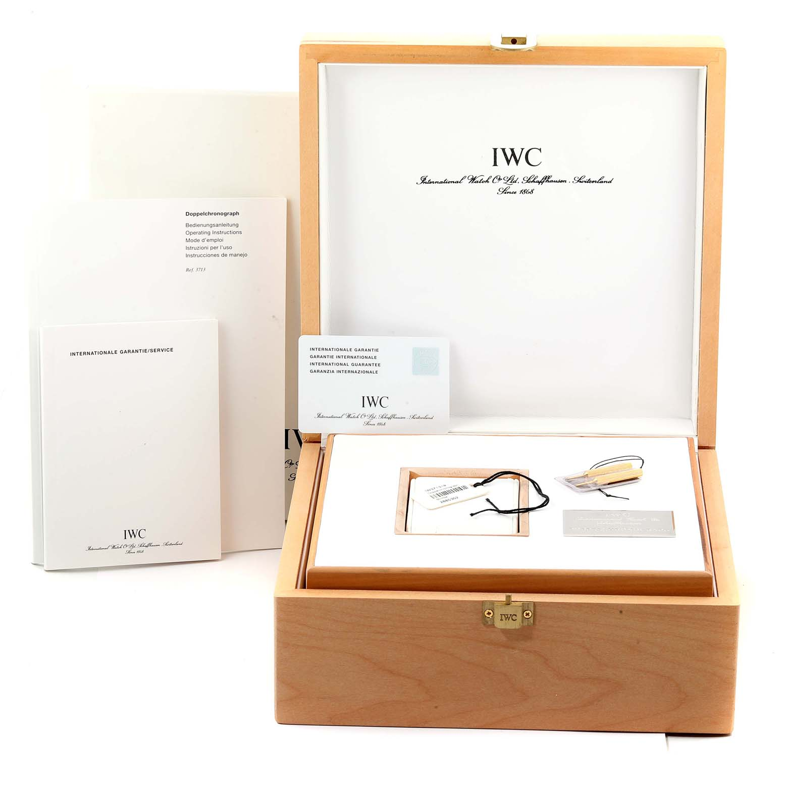 IWC Split Seconds Doppel Chronograph Steel Mens Watch IW371319 Box Card SwissWatchExpo