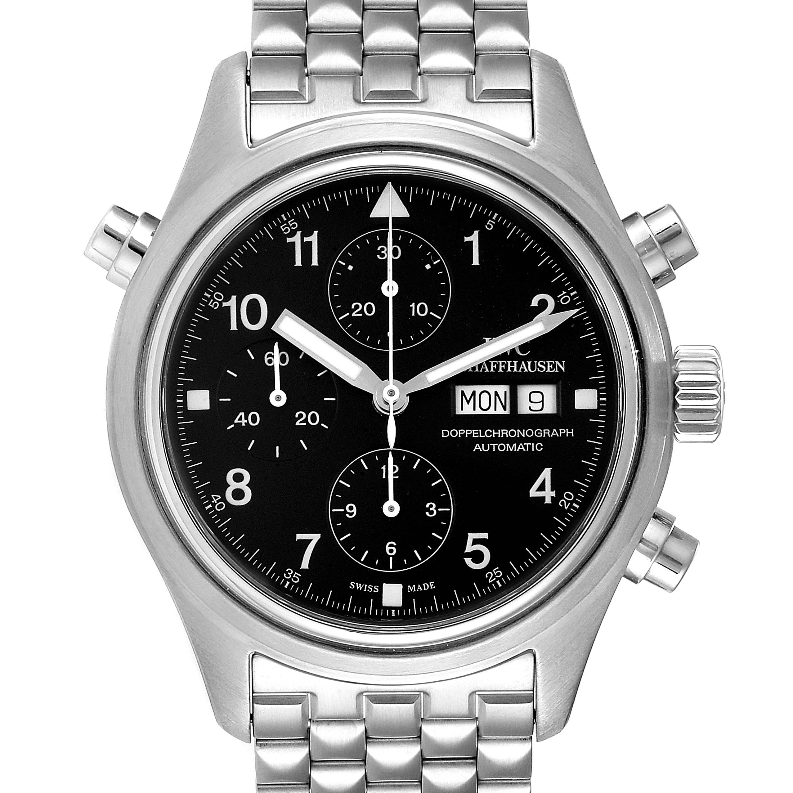 Photo of IWC Split Seconds Doppel Chronograph Steel Mens Watch IW371319 Box Card