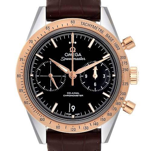 Photo of Omega Speedmaster Steel Rose Gold Watch 331.22.42.51.01.001 Box Card