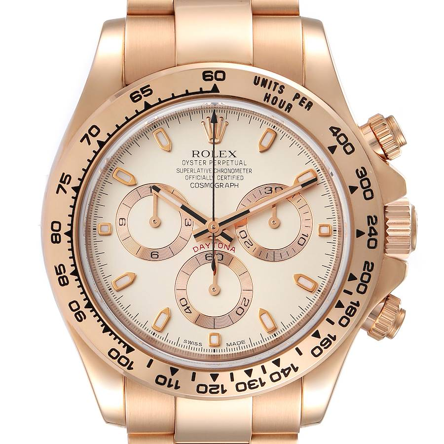 Rolex Cosmograph Daytona Rose Gold Everose Mens Watch 116505 Box Card SwissWatchExpo