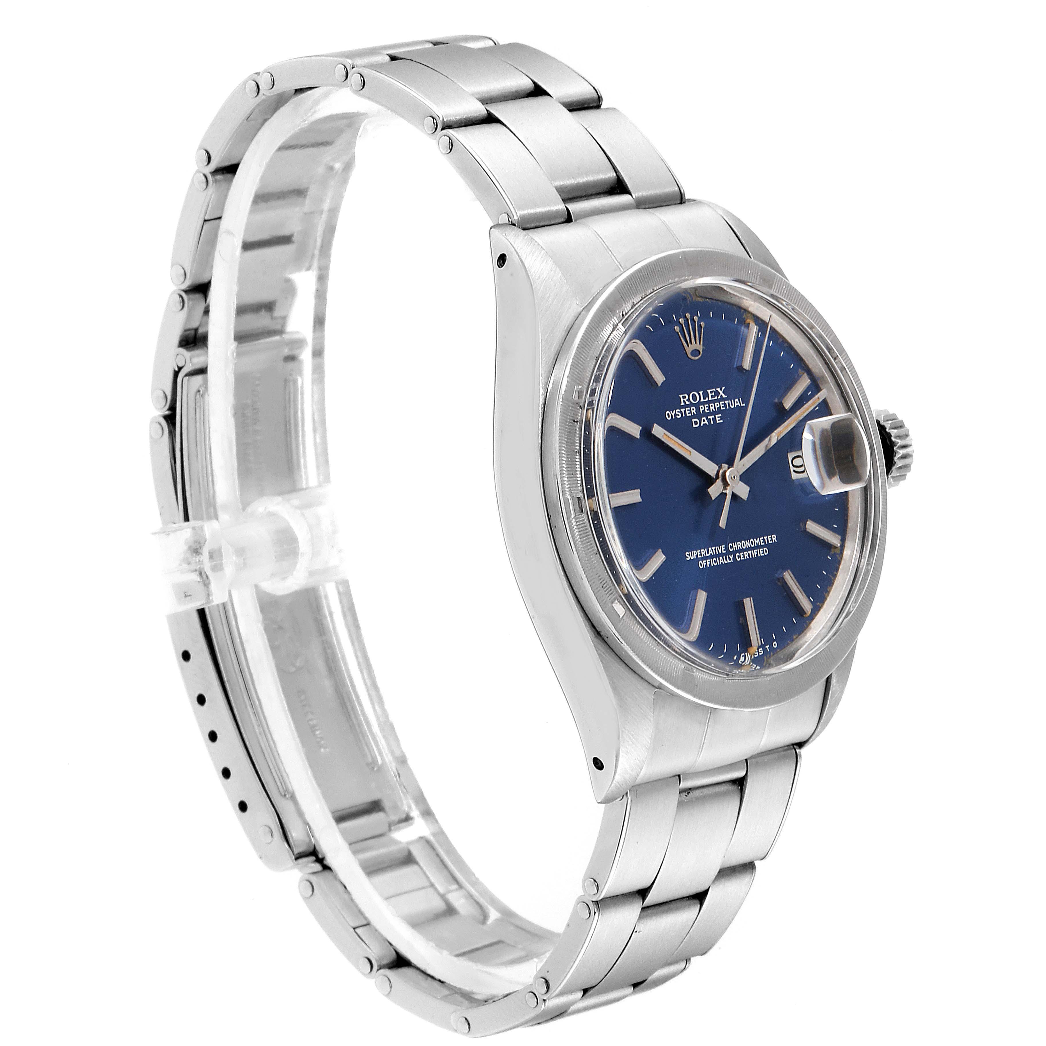 Rolex Date Blue Sigma Dial Vintage Steel Mens Watch 1501 SwissWatchExpo