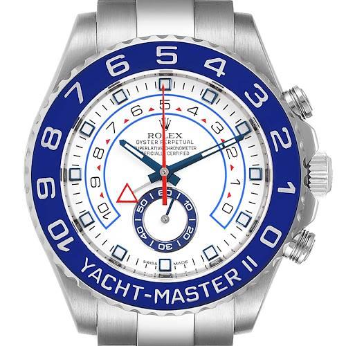 Photo of Rolex Yachtmaster II 44 Blue Cerachrom Bezel Mens Watch 116680