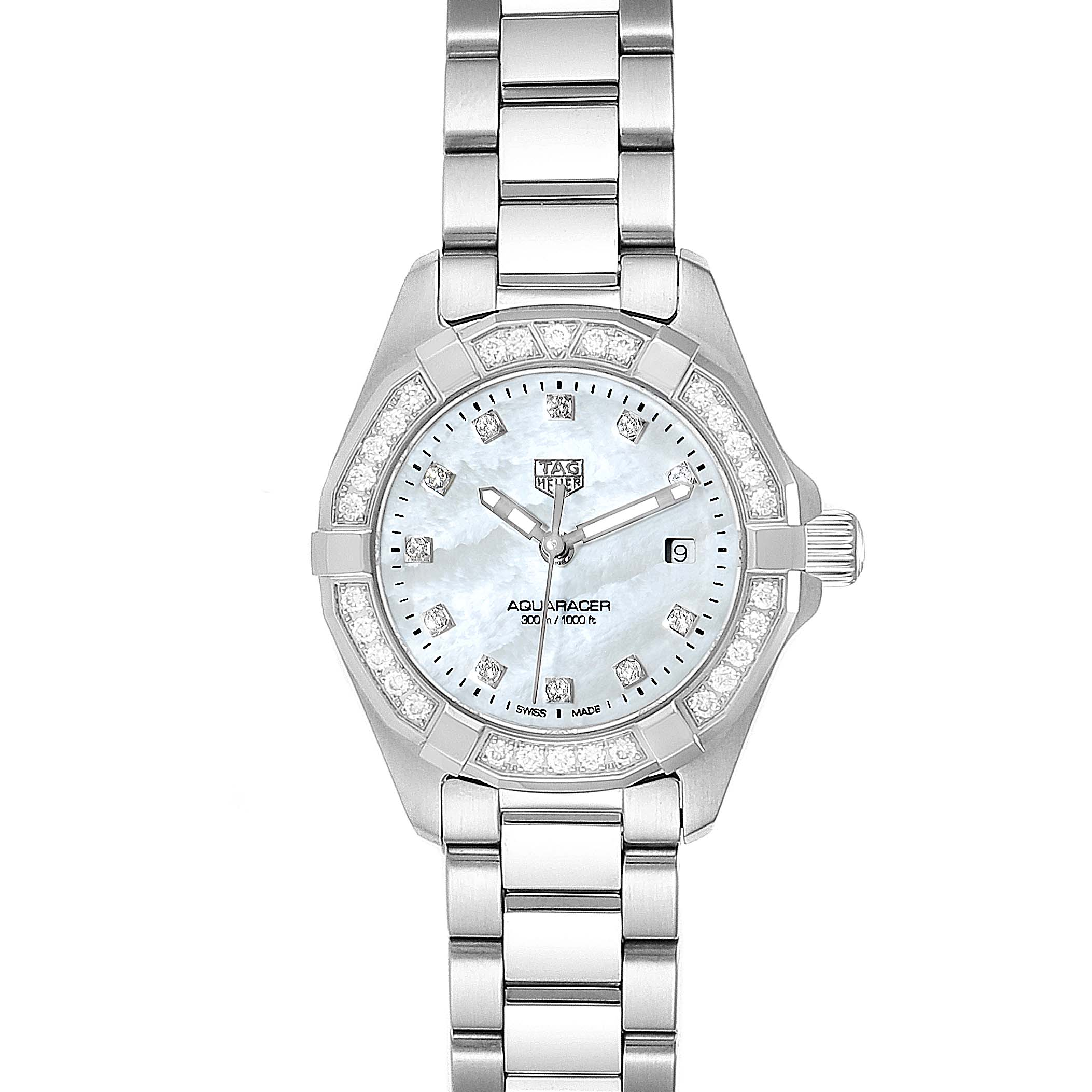 Photo of TAG Heuer Aquaracer Mother of Pearl Diamond Ladies Watch WBD1415