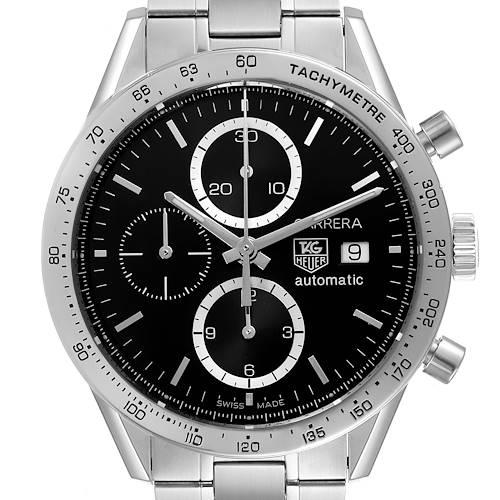 Photo of Tag Heuer Carrera Steel Black Dial Chronograph Mens Watch CV2016