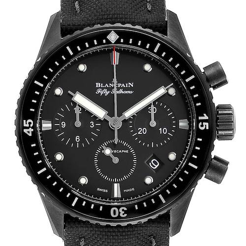 Photo of Blancpain Fifty Fathoms Bathyscaphe Ceramic Mens Watch 5200 Box Card