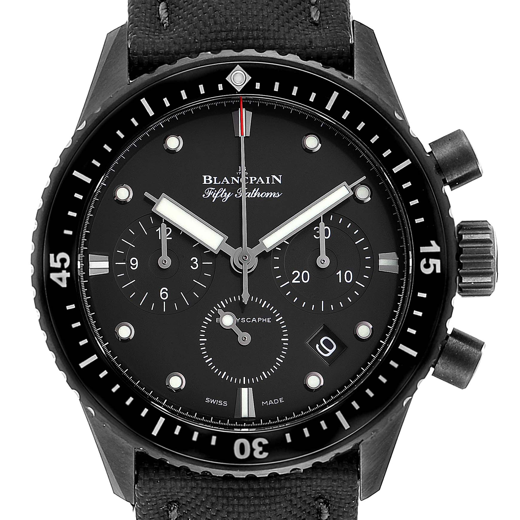 Blancpain Fifty Fathoms Bathyscaphe Ceramic Mens Watch 5200 Box Card SwissWatchExpo