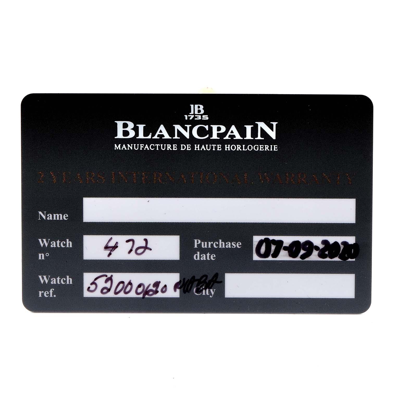 Blancpain Fifty Fathoms Bathyscaphe Ceramic Mens Watch 5200 Box Card SwissWatchExpo