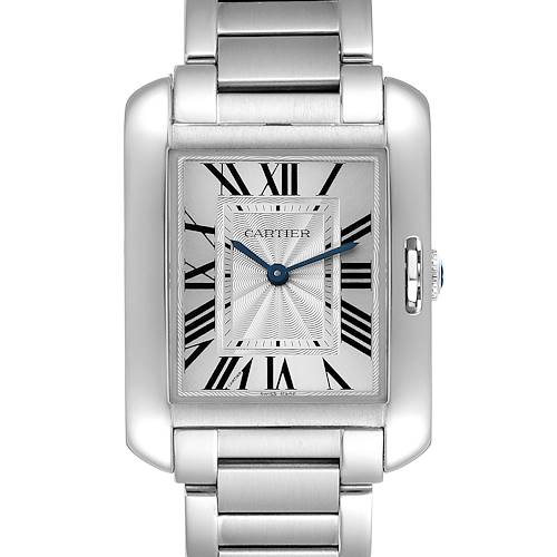 Photo of NOT FOR SALE Cartier Tank Anglaise Midsize Steel Ladies Watch W5310044 Box Papers PARTIAL PAYMENT