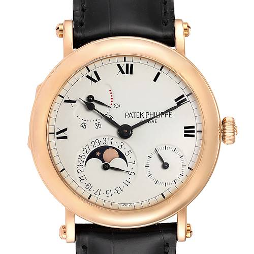 Photo of Patek Philippe Complications Power Reserve Moonphase Rose Gold Watch 5054