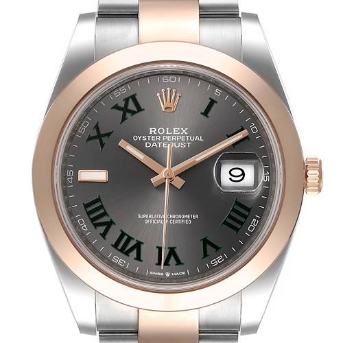 Photo of Rolex Datejust 41 Steel Rose Gold Wimbledon Dial Mens Watch 126301 Unworn